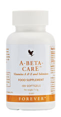 A-Beta-CarE contains vitamin A, which helps maintain normal skin and vision; selenium, which helps maintain the normal function of the immune system; and vitamin E, which contributes to the protection of cells from oxidative stress. N.B. Contains soy.