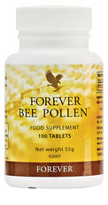 Bee pollen, dubbed a 'miracle food', is a nutritionally-rich substance that provides bees with everything they need to survive. Forever sources its pollen from a pollution-free desert using a patented pollen trap which collects pollen without destroying the colony. This pollen has then been combined with honey and royal jelly to create Forever Bee Pollen, a fresh and potent supplement.