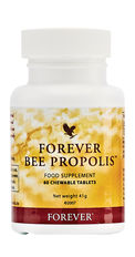 Propolis is the protective substance gathered and used by bees to disinfect and protect their hives. Forever Bee Propolis is collected from pollution-free regions to assure purity. N.B. Contains soy, tree nuts and almond flavouring.