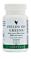 It's never a good idea to neglect fresh green foods, but if you do feel like you need a top up, Fields of Greens contains a high source of fibre through ingredients such as barley grass, wheat grass and alfalfa.