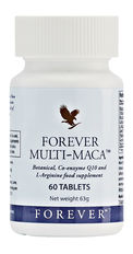 Forever Multi-Maca combines legendary Peruvian maca with Q-10, L-Arginine and other powerful herbs. N.B. Contains soy.