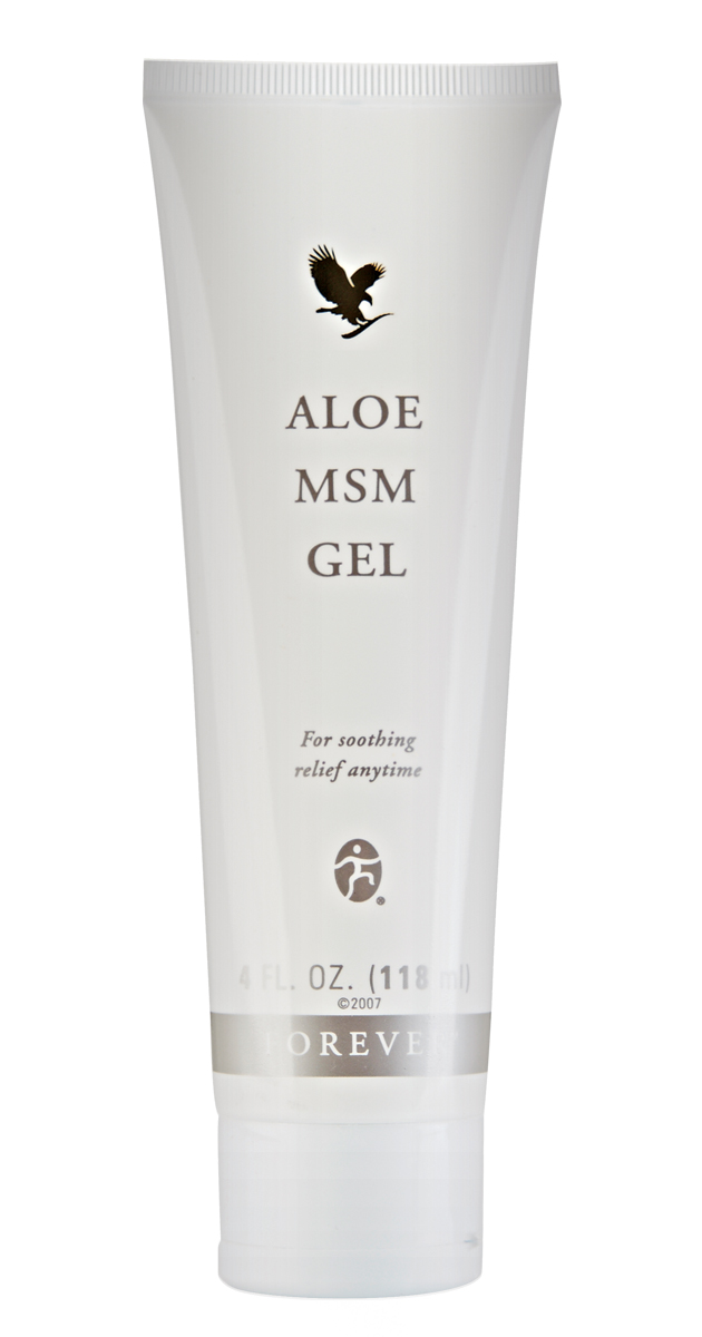 A combination of aloe vera and methyl mulphonyl methylsulfonylmethane (MSM), this non-staining, clear gel soothes joints and muscles. An excellent product that no sports bag should be without.