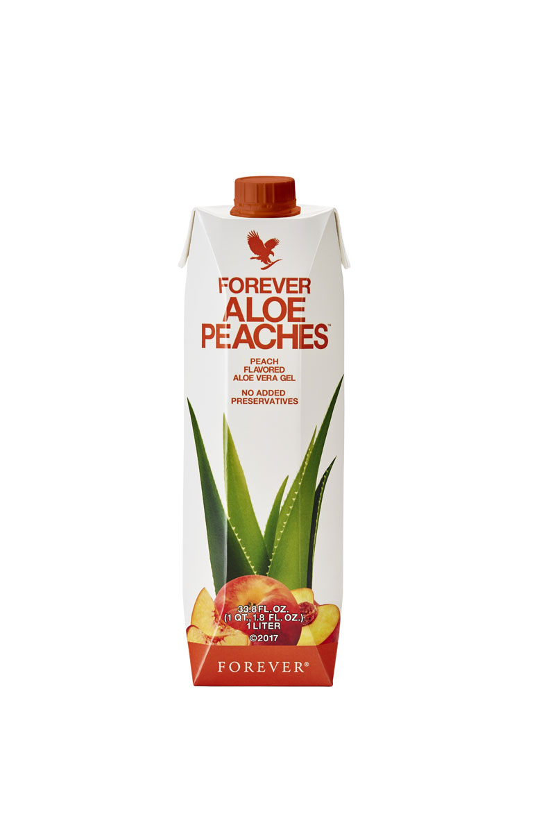 Why wait for summer to enjoy the flavour of sun-ripened peaches? Now you can enjoy that peach taste any time with Forever Aloe Peaches, a smooth and fresh drink that's enhanced 84.3% pure aloe vera gel with natural peach purée. Like all our aloe gels, this refreshing and fruity alternative is a brilliant digestive aid that's high in vitamin C to help support immune function and skin health.