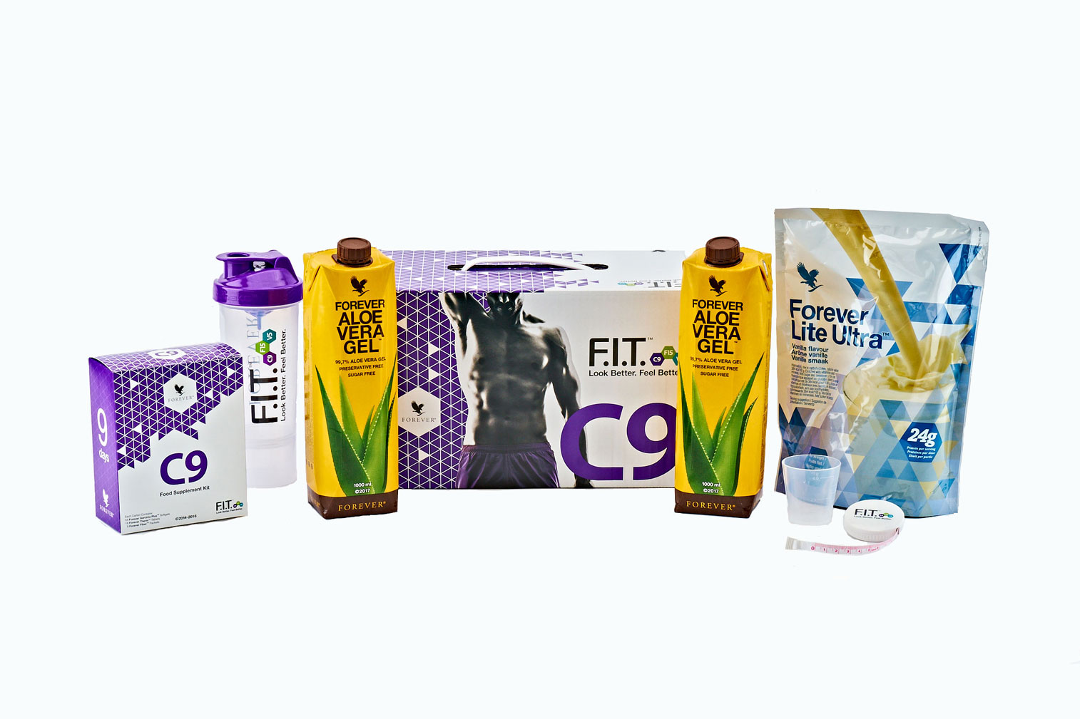 Look better and feel great in just nine days with this expertly-devised calorie-controlled diet and exercise programme. Designed to kick-start the F.I.T. programme, prepare your body and adjust your mindset, C9 provides the perfect starting point for transforming your diet and fitness habits. Based around Forever's bestselling Forever Aloe Vera Gel, this nutritionally-balanced programme will allow you to see real results in just nine days.