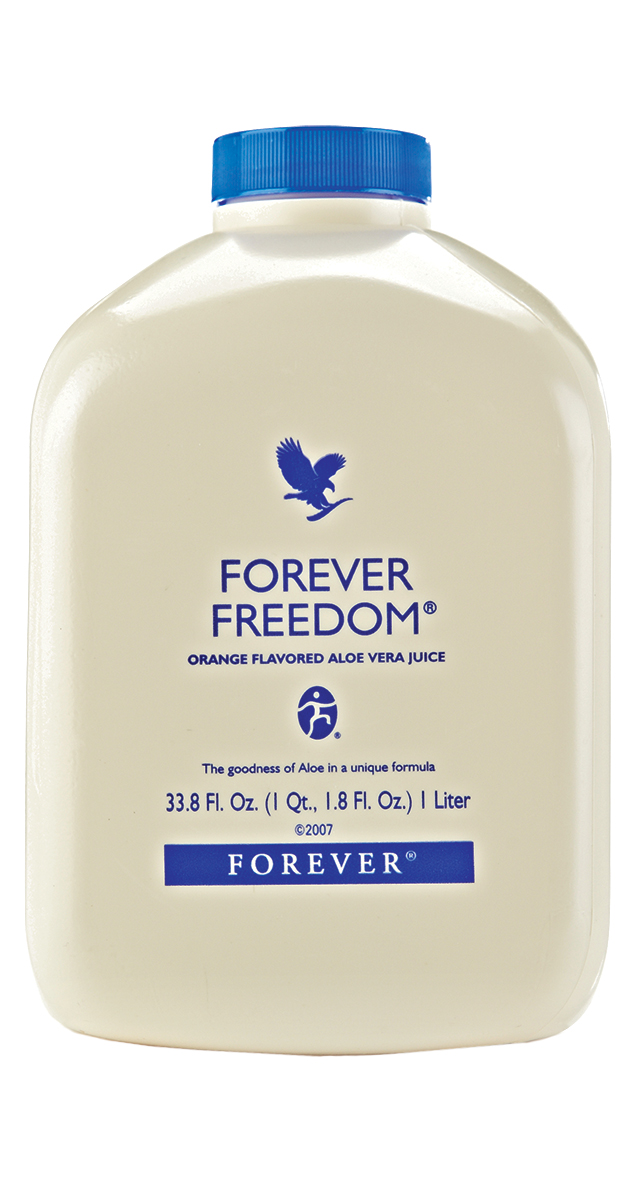 Wake up and get your day moving with this refreshing orange-flavoured aloe gel. Forever Freedom contains all the benefits of our plain gel but with added glucosamine, chondroitin and MSM – popular with those who lead an active lifestyle. N.B. Contains shellfish (shrimp, crab and lobster).