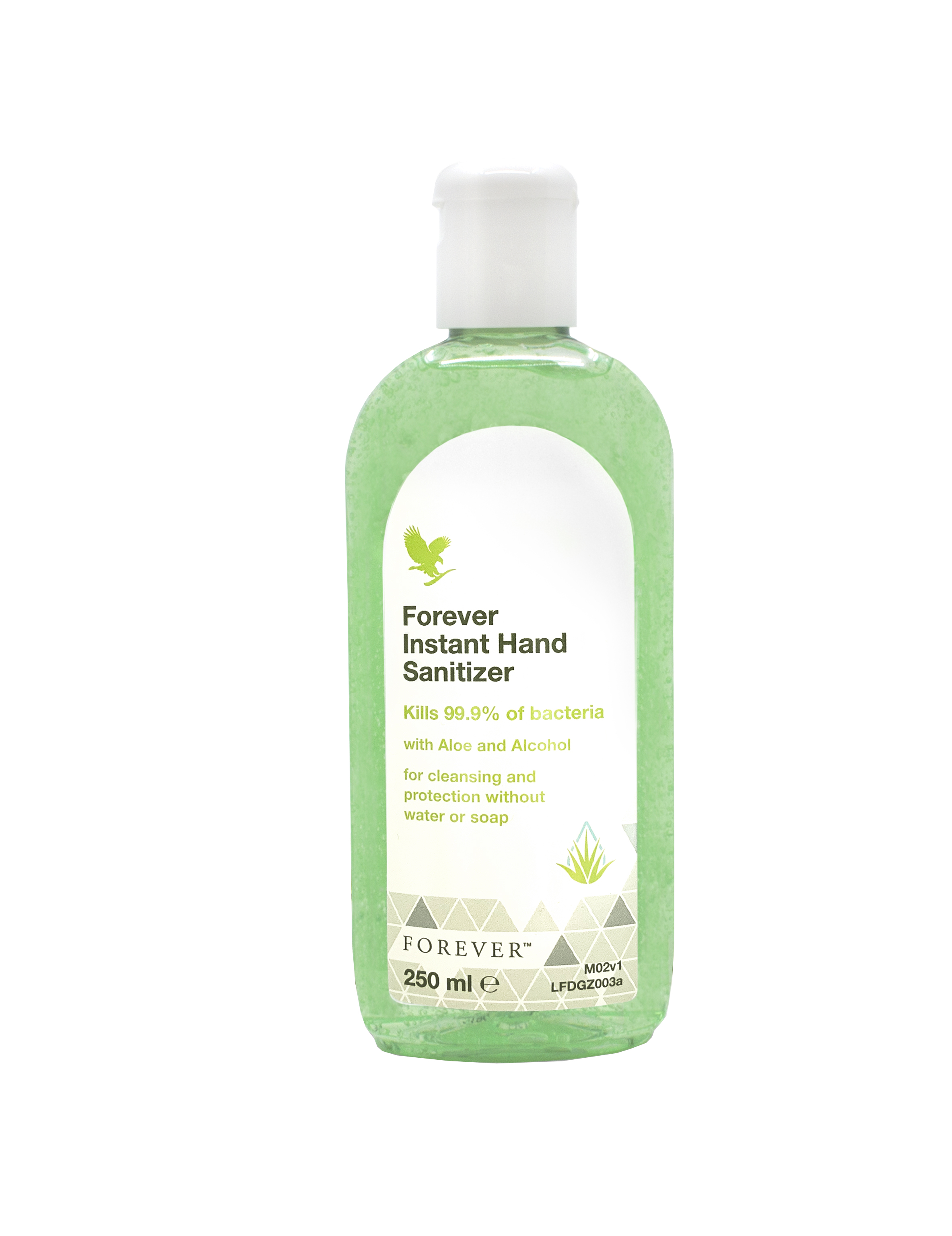Forever Instant Hand Sanitizer&nbsp;encourages you to get the most out of your everyday life without compromising your well-being, and that of your loved ones. The effective aloe-based formula kills 99.9% of bacteria, and leaves your hands feeling clean and refreshed in an instant. The citrus-scented hand sanitizer is ideal for cleaning your hands quickly and effectively if soap and water are not available. Powerful and refreshing,&nbsp;Forever Instant Hand Sanitizer&nbsp;will keep the whole family protected, wherever the adventure leads. <ul><li>Essential to have at home and perfect when you are on the go.</li><li>Kills 99.9% of bacteria</li><li>Formulated with 70% alcohol</li><li>Quick-drying and non-sticky</li><li>Effective aloe-based cleansing formula</li></ul> Powerful and refreshing,&nbsp;<b>Forever Instant Hand Sanitizer</b>&nbsp;will keep the whole family protected, wherever the adventure leads. The citrus-scented, aloe-based hand sanitizer kills 99.9% of bacteria, and is ideal for cleaning your hands quickly and effectively if soap and water are not available.