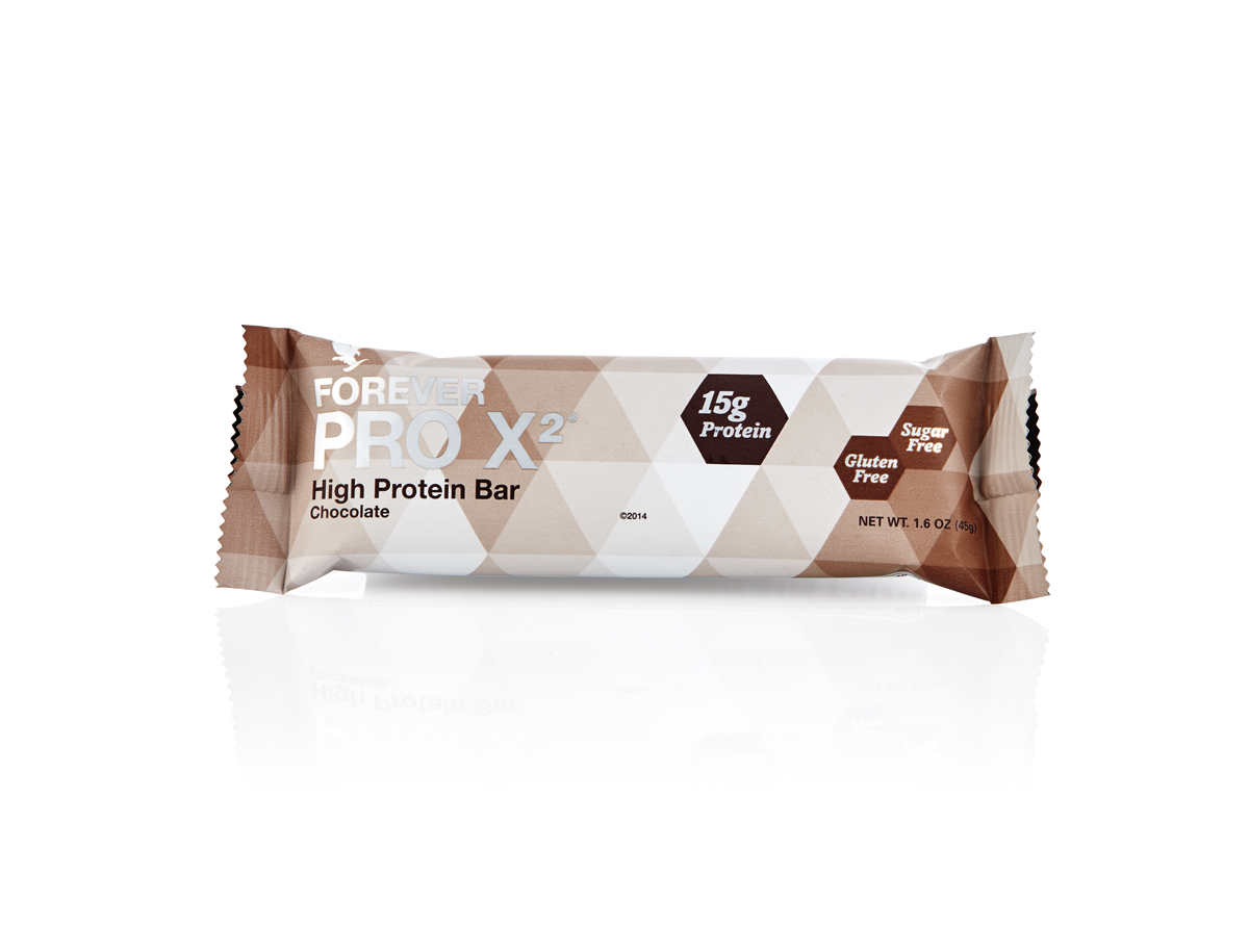 Resist the temptation to snack on unhealthy crisps and chocolate by stocking up on these tasty, sugar and gluten-free bars.Forever Pro X2is available in cinnamon or chocolate flavour and each bar contains 15g of protein. N.B. Contains soy and milk.