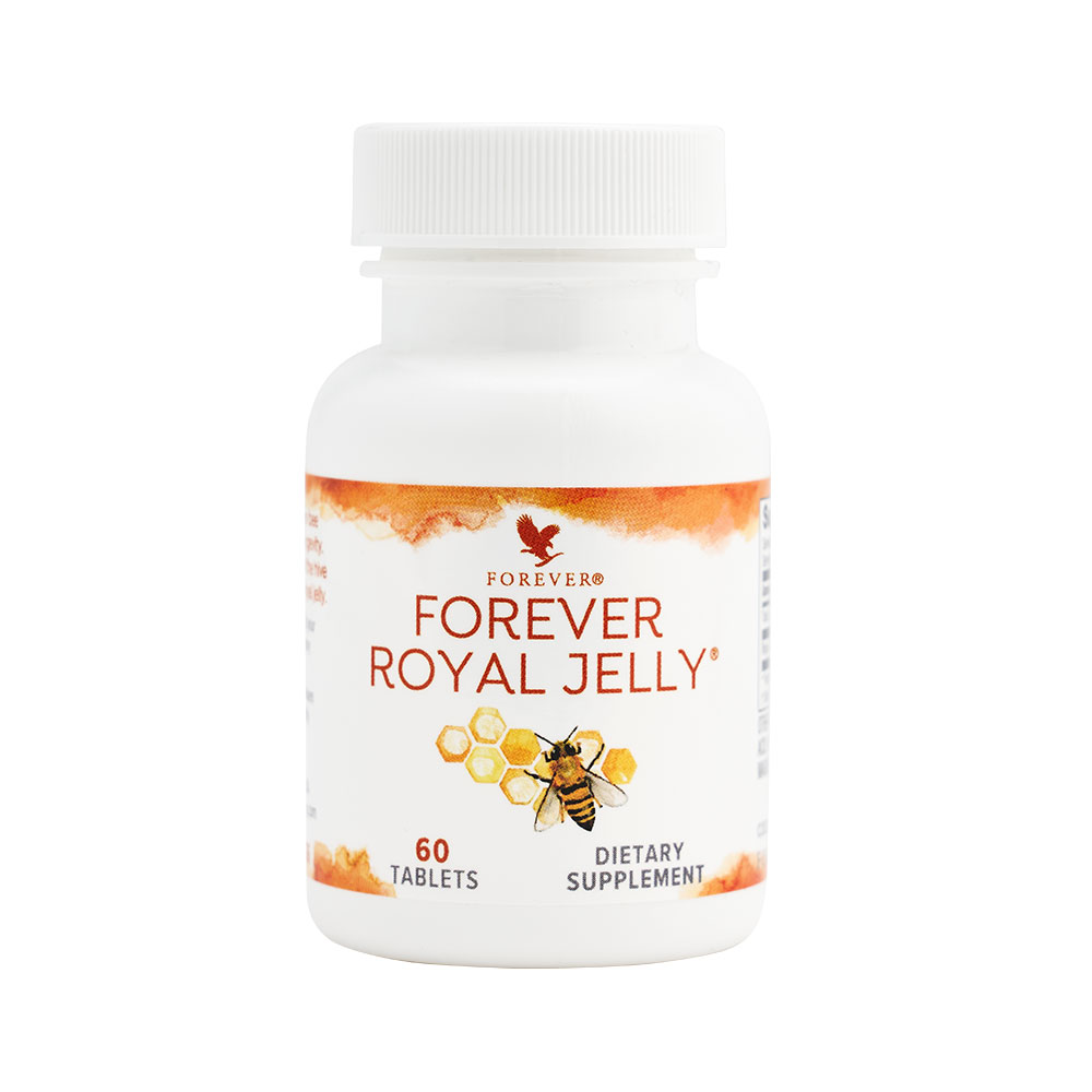 Forever Royal Jelly is made for royalty! Natural royal jelly is an extremely nutritious and biochemically complex honey bee secretion. It's a rich, milky substance which consists of proteins, simple sugars, fatty acids and trace elements vitamin B5 and B6. The exclusive food of the queen bee, royal jelly is thought to be responsible for her longevity – she lives over fifty times longer than regular worker bees!