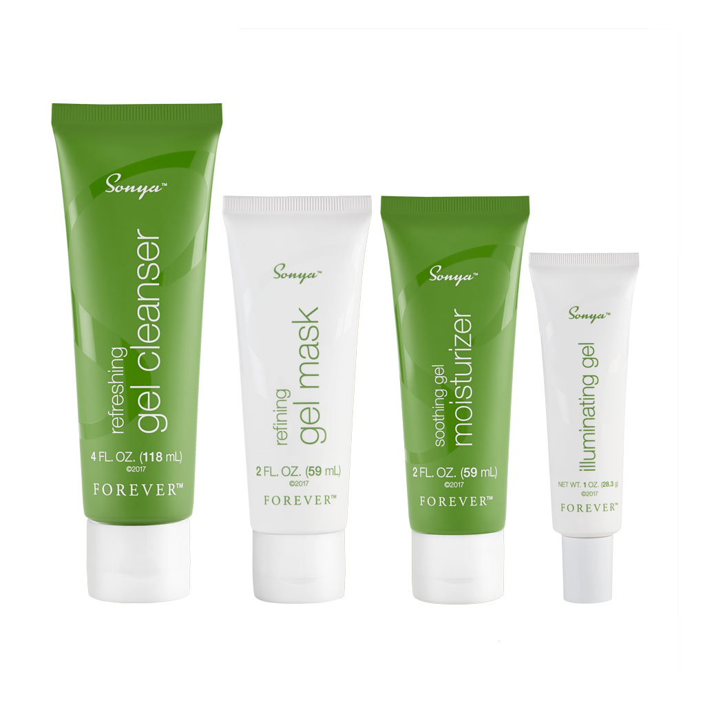 Made specifically for combination skin which can fluctuate and vary greatly, Sonya Daily Skincare features a high concentration of aloe and other moisturising botanicals. Nature meets science with a revolutionary gel-based technology that helps to deliver the benefits of aloe where your skin needs it most, plus its light texture leaves you feeling refreshed and rejuvenated. Sonya Daily Skincare includes four powerful products: