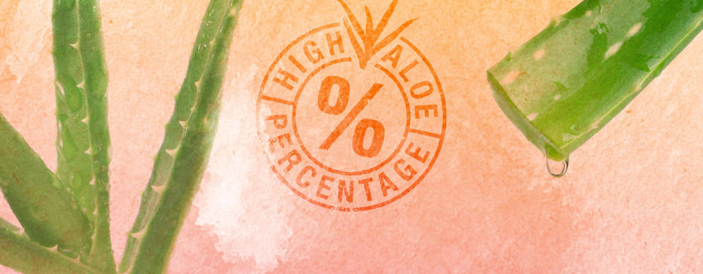 Why does aloe percentage and purity make a difference?