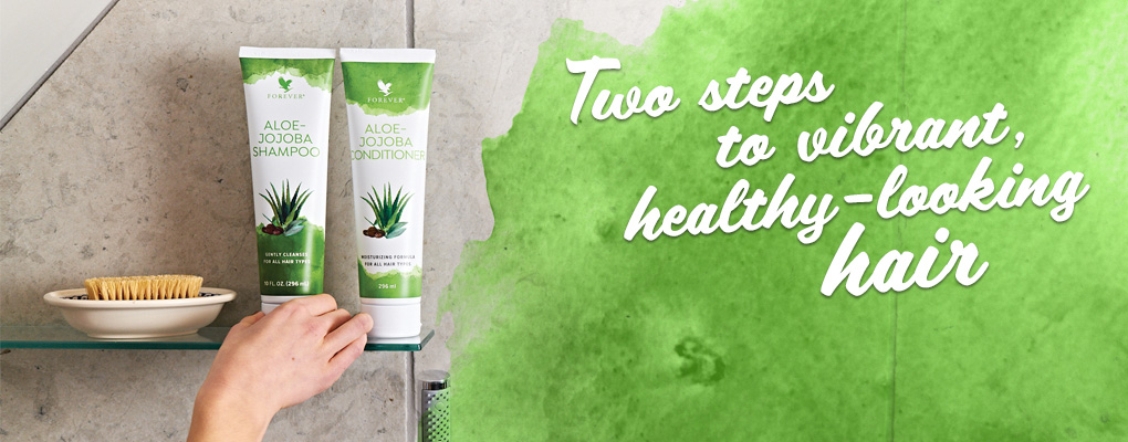 Two steps to vibrant, healthy looking hair