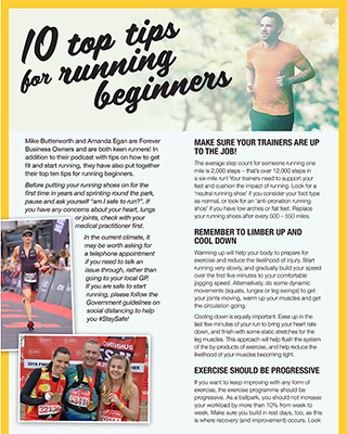 10 top tips for running beginners