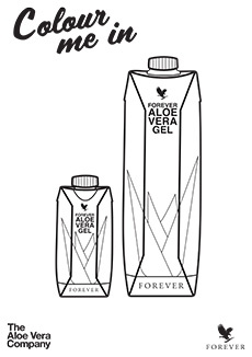 Aloe Gel Colouring Page