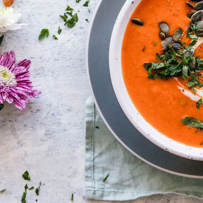 Warm your tummy this autumn by cooking these vegetarian soup recipes that will satisfy those food cravings and are bursting with seasonal flavours.